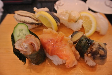 small Shellfish Sushi Assortment